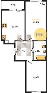 Двухкомнатная Квартира Москва, улица Тайнинская, вл.9-11, СВАО - . - Фото 5