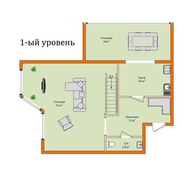 Просторная 4-х комнатная квартира в двух уровнях в Ставрополе - Фото 2