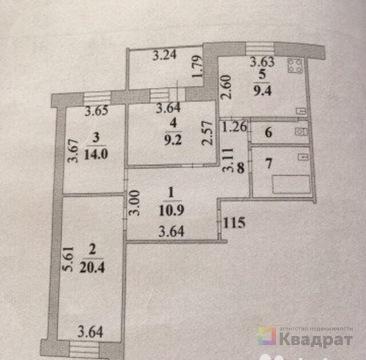 Продается 3-комнатная квартира в монолитном доме - Фото 1