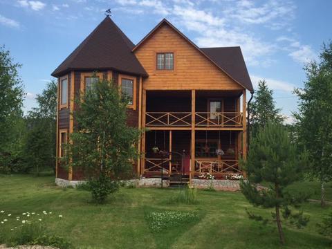 Жилой дом 270 кв.м из бревна д. Глуховка Чеховский р-н - Фото 3