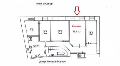 Объявление №60666014: Продаю комнату в 4 комнатной квартире. Москва, ул. Тимура Фрунзе, 20,