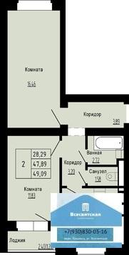 Продаётся 2-х комн. квартира в строящемся доме в мкр.Юрьевец - Фото 2