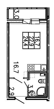 Продам студию. Заводская ул. к.Б, Купить квартиру Янино-1, Всеволожский район по недорогой цене, ID объекта - 319688477 - Фото 1