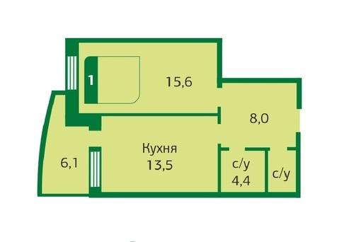 1 комн. квартира в новом доме ул. Зелинского, д. 5, Тюменский мкр - Фото 1