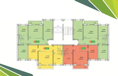 Продам долевое 2-комн ул.Солнечная д.41 , площадью 54 кв.м, на 5 этаж - Фото 1