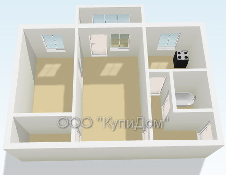 2 комнатная квартира, в хорошем районе - Фото 1