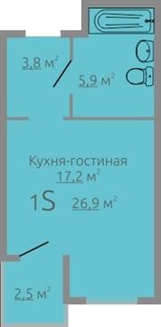"""Продаётся студия 26.9 кв.м. с ремонтом в ЖК """"Апрель"""" - Фото 5"""