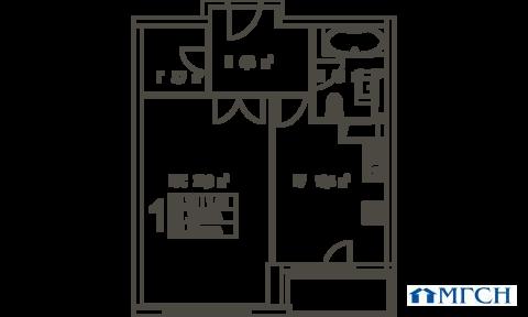 1-комн квартира в ЖК Дыхание 52,8м2 - Фото 1