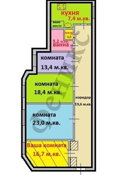 Одна комната, во,11-я линия, дом 60, 17 кв.м. - Фото 1