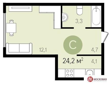 Квартира-студия в Видном - Фото 1