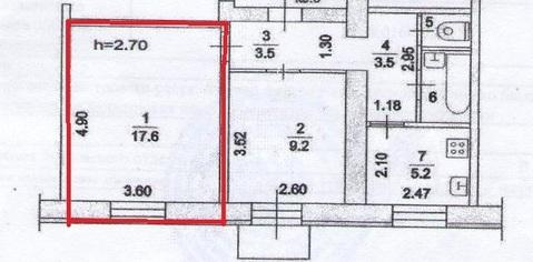 Продается комната в 2-комнатной квартире г.Жуковский, ул.Чкалова, д.53 - Фото 2