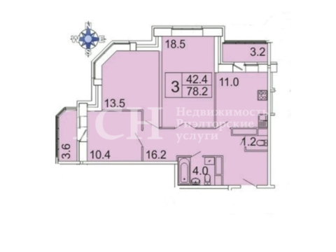 3-комн. квартира, Ивантеевка, ул Хлебозаводская, 41а - Фото 2
