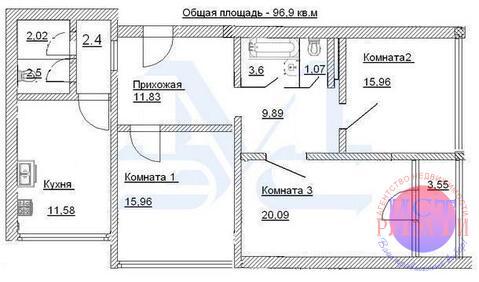 Просторная 3-комн.кв-ра 100м2 в новом доме в гор.Электрогорск - Фото 2