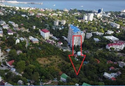 Земельный участок правильной формы в черте города Ялта, 2 сотки - Фото 1