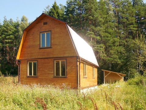 Дом из клеёного бруса (150х150), площадь: 80 (кв.м.). Участок 8 соток. - Фото 1
