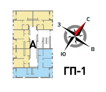 Продажа однокомнатная квартира 37.06м2 в ЖК Солнечный гп-1, секция а - Фото 2