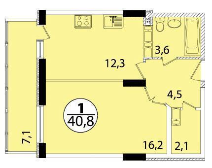 Однокомнатная квартира в монолитном доме, с новым ремонтом. - Фото 2