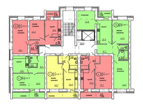 Продажа 2-комнатной квартиры, 69.7 м2, Березниковский переулок, д. 34 - Фото 2
