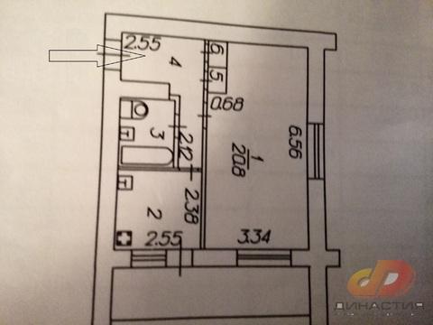 Однокомнатная квартира, 50 лет влксм, кирп.дом - Фото 4
