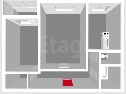 Продажа двухкомнатной квартиры на улице Чапаева, 87 в Стерлитамаке, Купить квартиру в Стерлитамаке по недорогой цене, ID объекта - 320177962 - Фото 1