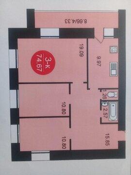 3-комнатная квартира в новостройке