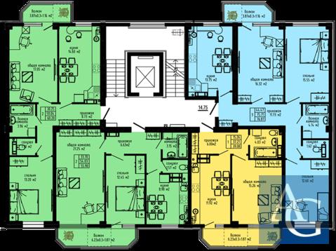 """1к видовая квартира 38 м2 в ЖК """"Каравелла"""" у моря рядом с """"Динопарком"""" - Фото 4"""