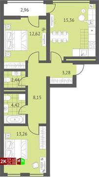 Продажа двухкомнатная квартира 59.48м2 в ЖК Суходольский квартал гп-1, . - Фото 1