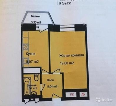 1-к квартира, 40 м, 6/16 эт. - Фото 3