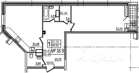 Продаю1комнатнуюквартиру, Назрань, Московская улица, 28, Купить квартиру в Назрани по недорогой цене, ID объекта - 323071411 - Фото 1