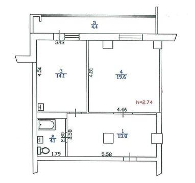 Продажа 1 комн квартиры 56м2 в Ленске, Первомайская, 32а - Фото 5