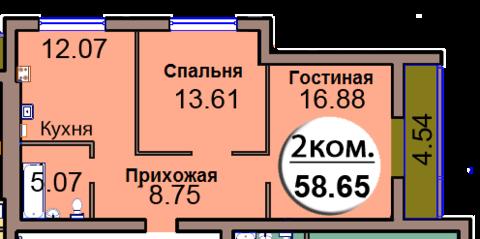 Двухкомнатная квартира в сданном доме - Фото 2