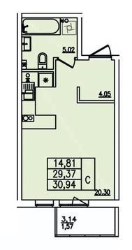 Квартира с лоджией в зеленом микрорайоне, Купить квартиру в Всеволожске по недорогой цене, ID объекта - 321659720 - Фото 1