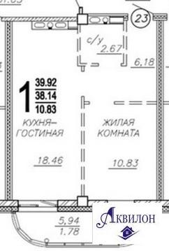 1-комнатная на Комарова,11/1б новостройка - Фото 3