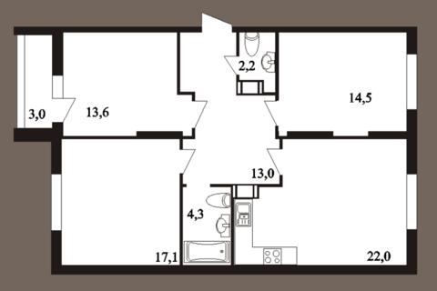 3-к квартира, 89,7 м2, 2/25 эт, пл. Ильинская, д. 5, стр. 4 - Фото 4