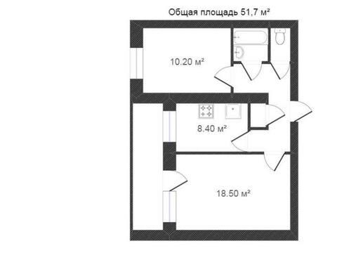 Продажа двухкомнатной квартиры на улице Грабцевское шоссе, 132 в ., Купить квартиру в Калуге по недорогой цене, ID объекта - 319812752 - Фото 1