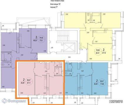 Квартира 2-комнатная в новостройке Саратов, Кировский р-н, Купить квартиру в Саратове по недорогой цене, ID объекта - 314720595 - Фото 1