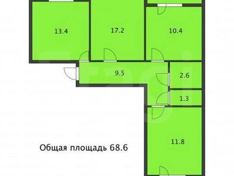3 250 000 Руб., Продажа трехкомнатной квартиры на улице Летчиков, 4к1 в Уфе, Купить квартиру в Уфе по недорогой цене, ID объекта - 320177557 - Фото 1
