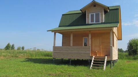 Брусовой дом 60кв.м. на участке 38 соток в д.Скрипово, Заокский р-он - Фото 1