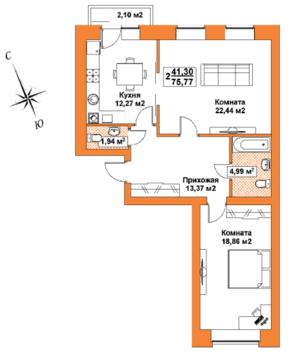 2-х комнатная квартира в новом кирпичном доме в центре Твери! - Фото 3