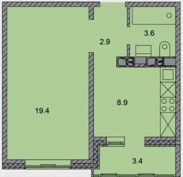 1-к квартира в Степном в новом доме - Фото 2