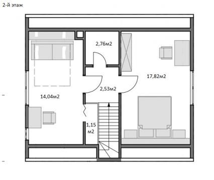 Уютный 2-х эт.каркасный дом 100м2 в д.Крева - Фото 3