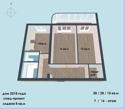 2-х комнатная квартир, Ангарская 28 - Фото 1