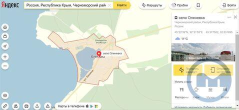 Продажа участка, Оленевка, Черноморский район, Ул. Дружбы - Фото 1