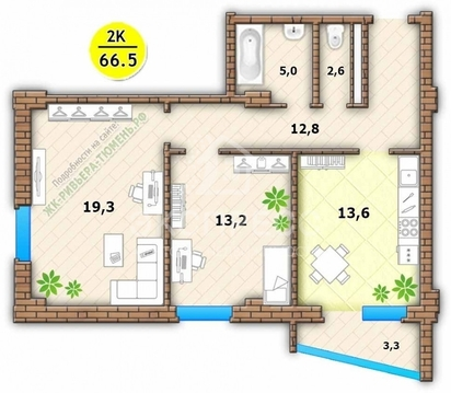 Продам 2-комн. квартиру, 3-й Заречный микрорайон, Заречный проезд, 39к - Фото 1