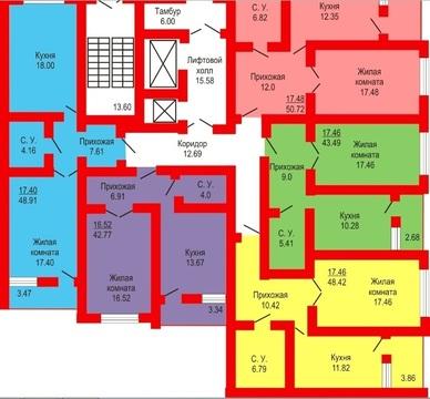 1-к большая 51 м2 квартира в Оренбуржье с чистовым ремонтом - Фото 4