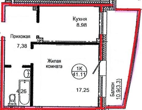 Продам 1ком. Борисова 34 - Фото 1