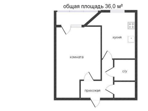 Продажа однокомнатной квартиры на Московской площади, 65/1 в Калуге, Купить квартиру в Калуге по недорогой цене, ID объекта - 319812761 - Фото 1
