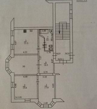Капитальная Трехкомнатная Квартира Сталинской Постройки. Центр города. - Фото 3