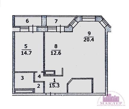 Cдается 2-к квартира, г. Одинцово, ул. б-р М.Крылова, д.13 - Фото 2