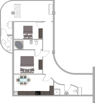 3-к квартира, 125 м2, 1/5 эт, Ялта, ул Радужная, 2 с видом на море - Фото 3